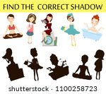 find the correct shadow. kids... | Shutterstock .eps vector #1100258723