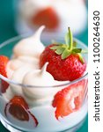 macro shot of whipped cream ... | Shutterstock . vector #1100264630