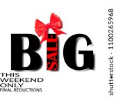 big sale this weekend only... | Shutterstock .eps vector #1100265968