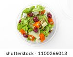healthy vegetarian salad in... | Shutterstock . vector #1100266013