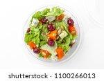 healthy vegetarian salad in... | Shutterstock . vector #1100266013