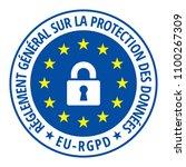 eu rgpd sign illustration | Shutterstock .eps vector #1100267309