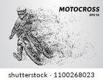 motocross particles. the... | Shutterstock .eps vector #1100268023