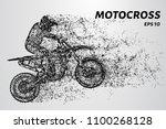 motocross of particles.... | Shutterstock .eps vector #1100268128