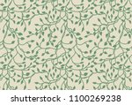 vines and ivy background with...   Shutterstock .eps vector #1100269238