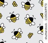 seamless pattern with cartoon... | Shutterstock .eps vector #1100269973