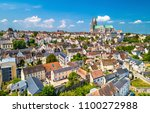 aerial view of chartres city... | Shutterstock . vector #1100272988