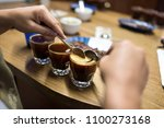 professional coffee cupping ... | Shutterstock . vector #1100273168