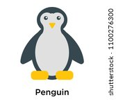 penguin icon vector isolated on ... | Shutterstock .eps vector #1100276300