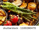 healthy fresh vegetables... | Shutterstock . vector #1100280470