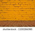 interior room with brick wall... | Shutterstock . vector #1100286380