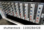 audio control panel. amplifier... | Shutterstock . vector #1100286428