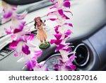 hawaii road trip   car hula... | Shutterstock . vector #1100287016