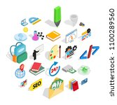 chemical substance icons set.... | Shutterstock .eps vector #1100289560