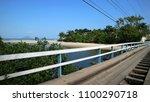 old wood bridge  juquehy sao... | Shutterstock . vector #1100290718