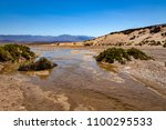 salt creek pool in death valley ... | Shutterstock . vector #1100295533