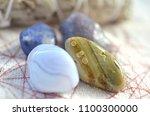 assortment of beautiful healing ... | Shutterstock . vector #1100300000