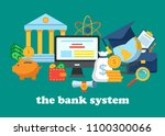 icons for the banking system.... | Shutterstock .eps vector #1100300066