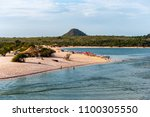 view of the island of love ... | Shutterstock . vector #1100305550