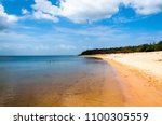 view of the island of love ... | Shutterstock . vector #1100305559