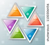 vector abstract 3d paper... | Shutterstock .eps vector #1100306456