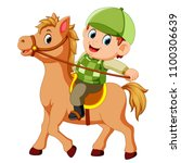 vector illustration of little... | Shutterstock .eps vector #1100306639