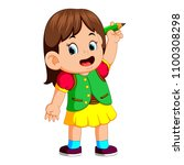 vector illustration of young... | Shutterstock .eps vector #1100308298