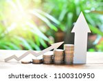 coins saving set increase to... | Shutterstock . vector #1100310950