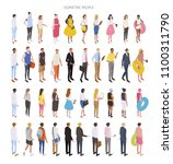 various race and fashion style... | Shutterstock .eps vector #1100311790
