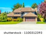 big custom made luxury house... | Shutterstock . vector #1100312393