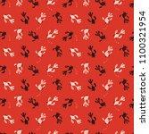 goldfish summer seamless pattern | Shutterstock .eps vector #1100321954