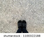 people standing at the same leg ... | Shutterstock . vector #1100322188