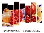 rosh hashanah jewesh holiday... | Shutterstock . vector #1100330189
