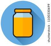 illustration of jam circle flat ... | Shutterstock .eps vector #1100330699