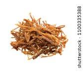 dried shredded pork isolated on ... | Shutterstock . vector #1100335388