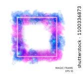 watercolor magic fire frame... | Shutterstock .eps vector #1100336873
