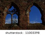 Church Ruins Double Window