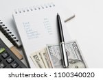 expense  cost or budget... | Shutterstock . vector #1100340020
