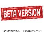 beta version grunge rubber... | Shutterstock .eps vector #1100349740