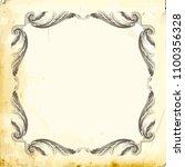retro baroque decorations... | Shutterstock .eps vector #1100356328