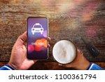 call taxi application concept.... | Shutterstock . vector #1100361794