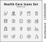 thin line icons set of medical  ... | Shutterstock .eps vector #1100363000