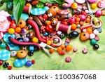 beads  colorful beads for... | Shutterstock . vector #1100367068