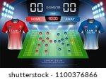 football or soccer starting... | Shutterstock .eps vector #1100376866