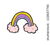 cartoon rainbow | Shutterstock .eps vector #110037740