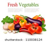 fresh vegetable with leaves....   Shutterstock .eps vector #110038124