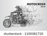 motocross particles. motocross... | Shutterstock .eps vector #1100381720