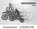 motocross particles. motocross... | Shutterstock .eps vector #1100381798