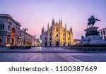 duomo di milano  milan... | Shutterstock . vector #1100387669