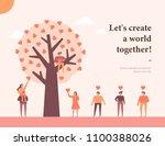 happy pride day post card... | Shutterstock .eps vector #1100388026